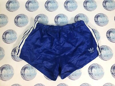Vintage 1970's 1980's Football Soccer Shorts Adidas Made In West Germany Blue