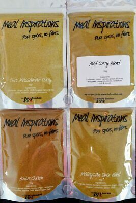 SPICES BLENDS - Mild Curry Blend, Thai Massaman, Butter Chicken, Malaysian 70g
