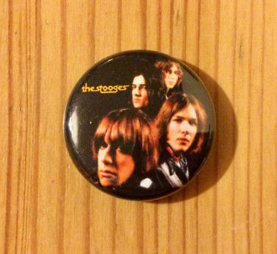 THE STOOGES (BAND) / IGGY POP - BUTTON PIN BADGE (25mm)