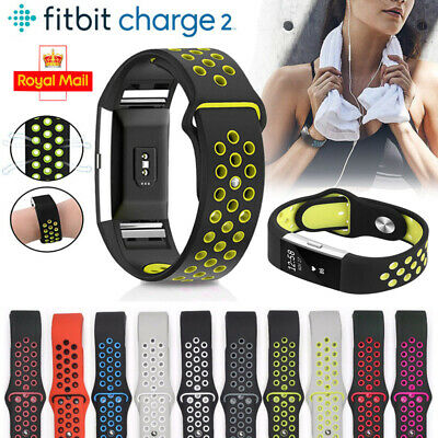 For Fitbit Charge 2 Replacement Sports Band Strap Silicone Wrist Watch Bands UK