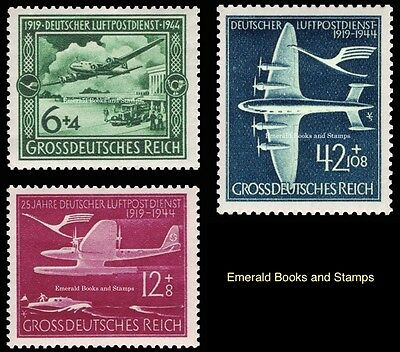 EBS Germany 1944 25th Anniversary German Air Mail Service Michel 866-868 MNH**