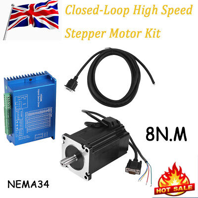 HSS86 Hybrid Servo Driver + NEMA34 Closed-Loop Stepper Motor Kit 8N.m 0~3000rpm