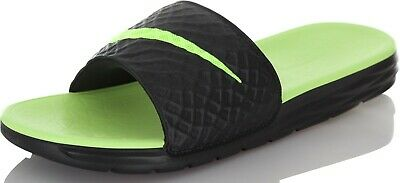 02869709b65 Nike Benassi Solarsoft Men s Slippers Slides Flip-Flops 705474-070 green  black