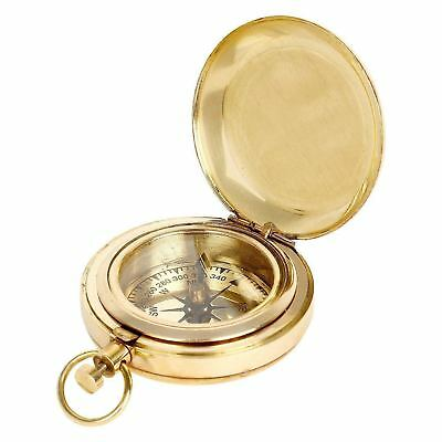 LOT OF 50 Pcs Solid Brass Nautical Push Button Pocket Compass Collectible Item2""
