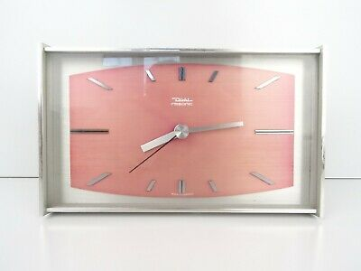 German DIEHL Vintage Mantel Desk Shelf Clock Retro (Junghans Hermle Kienzle era)
