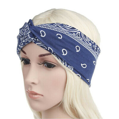 Fashion Ladies Cross Twist Knot Headband Bandana Elastic Hair Band Accessory BS