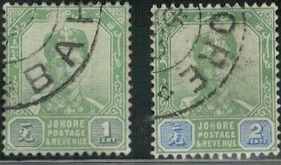 Lot 5371  - Malaya (Johore) 1896 used Sultan Ibrahim stamp selection (2)
