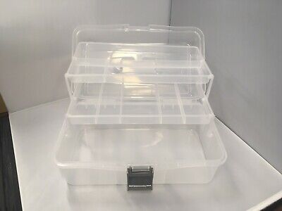 Cantilever Caddy Box 2 tray storage for Paints Artists Fishing tackle