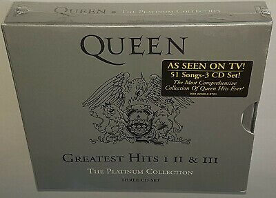 Queen Greatest Hits Volumes 1 2 & 3 (Platinum Edition) Brand New Sealed 3Cd Set