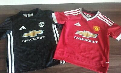 X2 Manchester United 2017 Home & Away Adidas Football Shirts Joblot