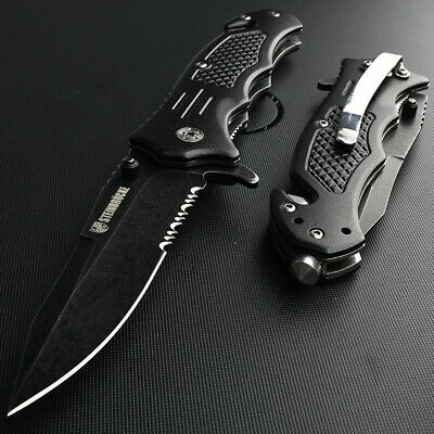 Spring Assisted Knife Tactical Pocket Knife Open Folding Hunting Rescue Outdoor