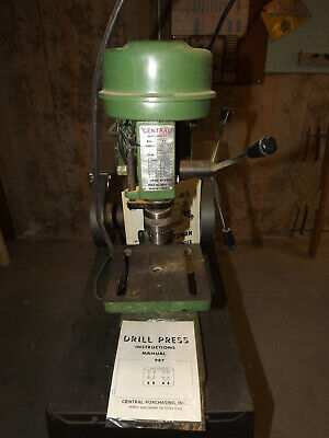 Central Drill Press #987 and Craftsman Bench Grinder 397-19390 w/ Stand