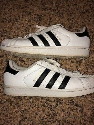 Adidas Originals Superstar Shoes Men s White Black Gold Sneakers Size 10 d4845d6ae