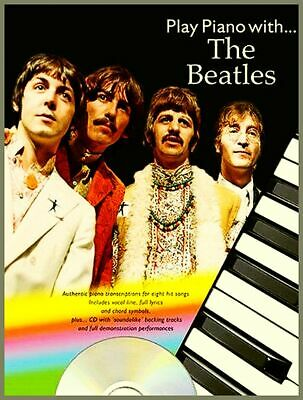 THE BEATLES PLAYER Songbook & Cd with Klavier Piano Voices Noten Chords Lyric