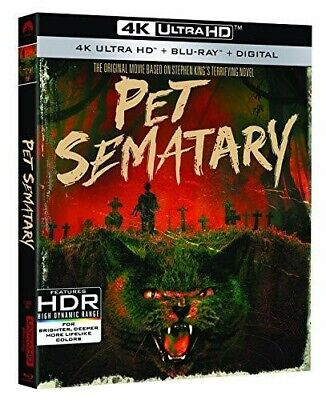 PET SEMATARY (30th anniversary) (4K ULTRA HD ) Blu Ray Region free