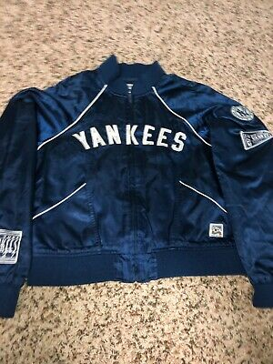 Vintage New York Yankees Cooperstown Collection Sewn Jacket Ladies Lg 1927 Champ