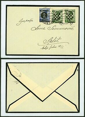 Croatia 1941 - Mourning cover to Split
