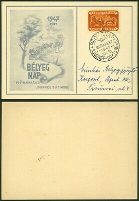 Hungary 1947 - Commemorative Postcard Day of Stamp
