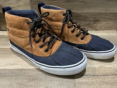 limited guantity 60% discount world-wide free shipping VANS SK8-HI DEL PATO MTE Ginger Navy Casual Skate Men's Size ...