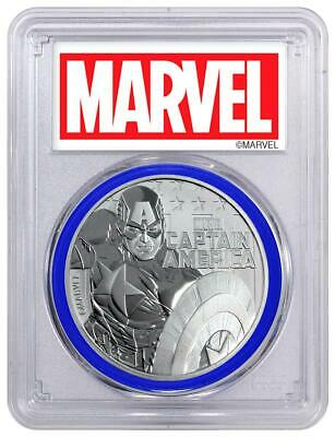2019 Tuvalu Marvel Series Captain America 1 oz Silver .9999 PCGS MS70 FS Coin