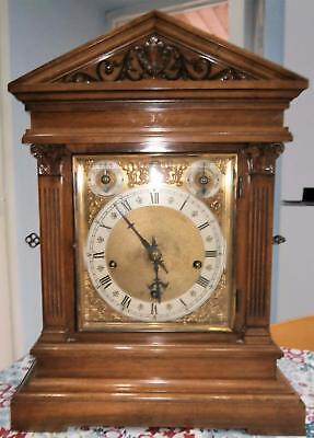 W & H Walnut Westminster Bracket Clock in G.W.O.