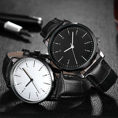 Belt Fashion Watches Men Women Lady Leather Brand Quartz Unisex Wrist Watch часы