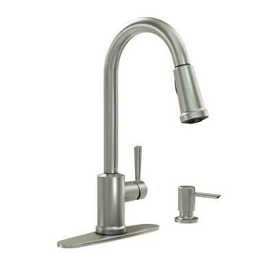 Moen Indi Single-Handle Pull-Down Sprayer Kitchen Faucet Stainless   |  F2