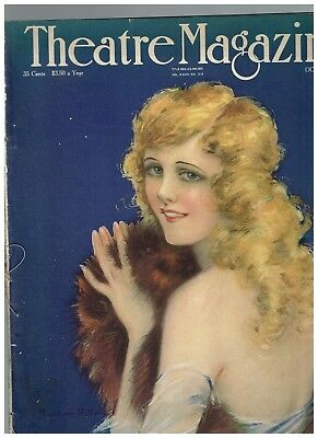 RARE VINTAGE October 1918 Theatre Magazine Marilyn Miller by Hamilton King cover
