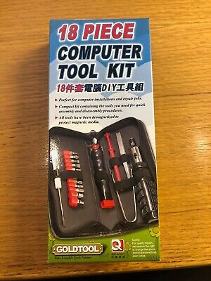18 Piece Computer Tool Set Kit In Case
