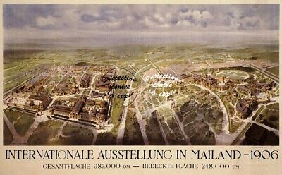 MAILAND EXPO 1906 Rfuce-POSTER/REPRODUCTION A3+(*) d1 AFFICHE VINTAGE (BR*)