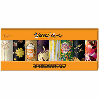 BIC Special Edition Autumn Series Lighters, Set of 8 Lighters