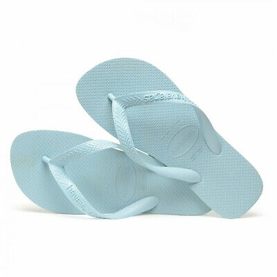 31be59db7 NEW 2019 GENUINE Havaianas TOP BRAZIL ICE BLUE LOGO Flip Flops thongs BNWT