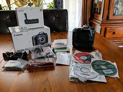 Canon EOS 7D 18.0MP Digital SLR Camera - Black (Body Only) plus extras!