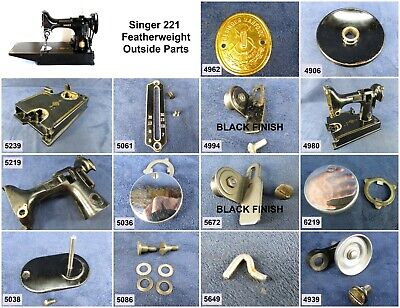 Singer Featherweight Sewing Machine 221 - Choose Your Parts! Free Ship Over $25