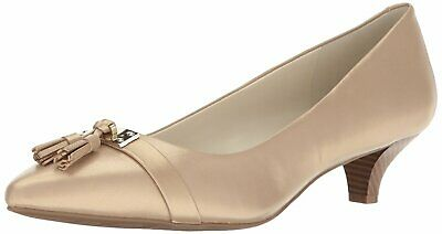 5281f4e4a62 ANNE KLEIN WOMENS Mandie Leather Pointed Toe Classic