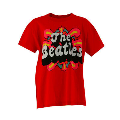 The Beatles Large Logo Kids Red T-shirt Official Licensed Music