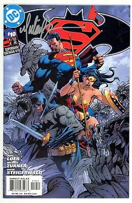 Superman Batman (2003) #10 1st Print Cover A Signed By Michael Turner No COA NM-