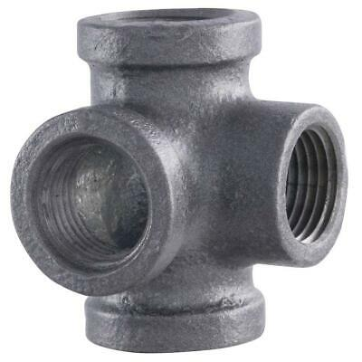 Pipe Décor™ Industrial Steel Grey ½ Inch Side Outlet Tee 4-Way Fitting (2-Pack)