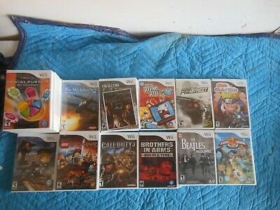 lot of nintendo wii games and acccessories both new and used