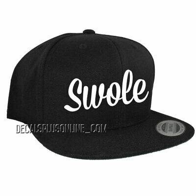 Custom 6 Panel SWOLE Premium Classic Snapback Adult Gym Swag Workout Cap Hat NEW