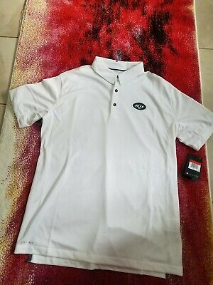 Nike New York Jets Dri Fit Polo Shirt L NFL On Field Football with Tag  85 471d8aca1