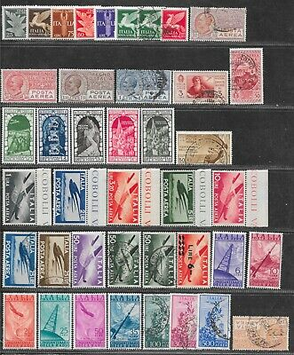 Italy, nice airmails lot,  as taken from a collection.