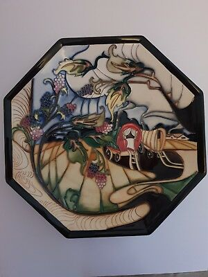 MOORCROFT QUEENIE' VAN PLATE  NUMBERED, SIGNED EMMA BOSSONS(red dot so a second)