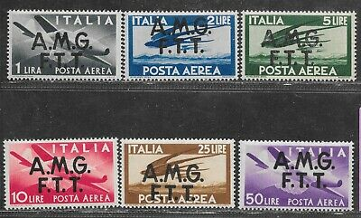 Italy, nice airmails; AMG-FTT C1/6, mint lot,  as taken from a collection.