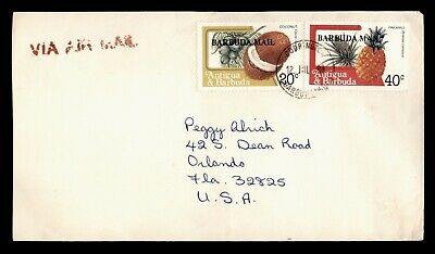 DR WHO 1988 ANTIGUA & BARBUDA MAIL OVERPRINT AIRMAIL TO USA  d79815