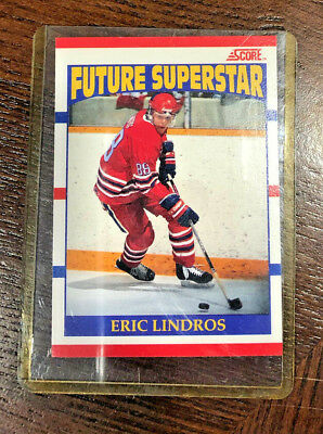 Eric Lindros Future Superstar RC rookie card #440 1990-91 Score Canadian hockey