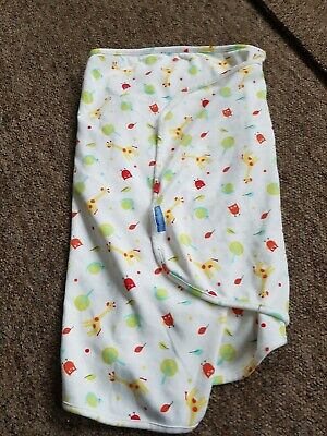 Grobag giraffe and snails swaddle wrap blanket age newborn