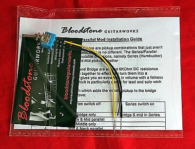 9-way Strat Tone Upgrade Kit - Adds Series/Parallel Humbucker & Neck Add Gilmour