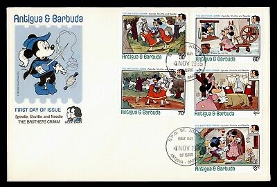 DR WHO 1985 ANTIGUA & BARBUDA DISNEY MICKEY MOUSE BROTHERS GRIMM COMBO  d85085