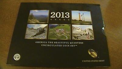 2013 P & D America the Beautiful Quarters Uncirculated Coin Set US MINT